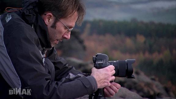 Ein Fotograf.