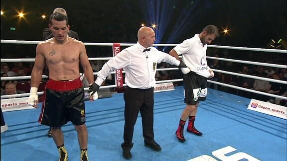 Siegerehrung Jack Culcay gegen Stefano Castellucci