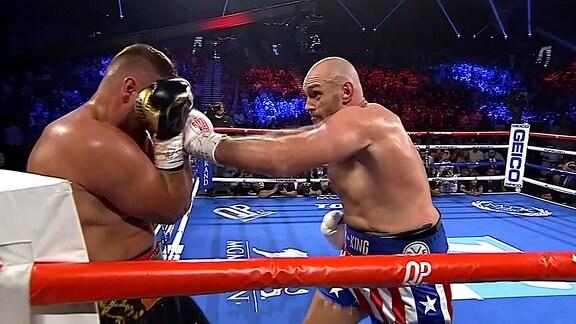 Kampfszene Tom Schwarz gegen Tyson Fury