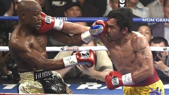 Floyd Mayweather Jr. und Manny Pacquiao