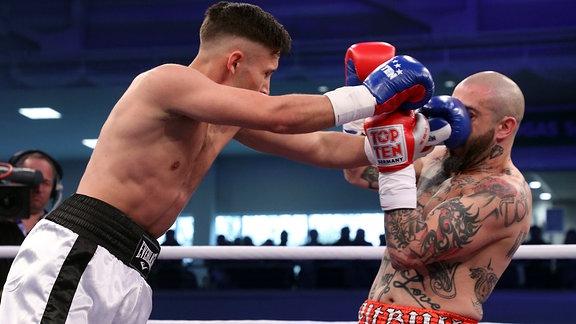 Nenad Stancic boxt gegen Lago Barros