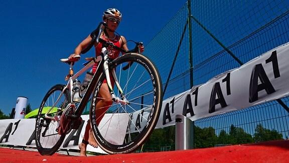 Triathletin Nathalie Birli
