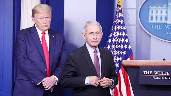 Anthony Fauci und Donald Trump