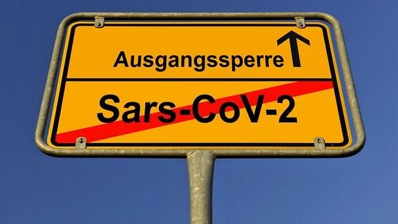 Symbolbild Ausgangssperre infolge Coronavirus, Sars-CoV-2, Covid-19