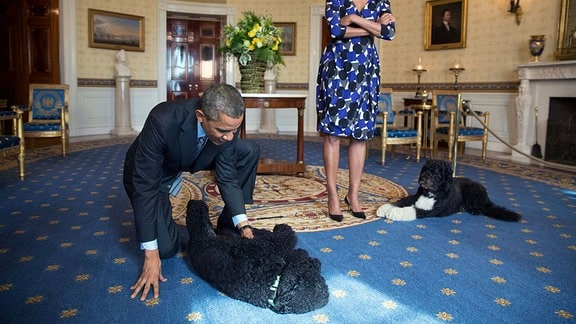 Barack Obama und seine Hunde