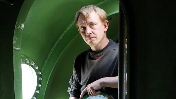 Peter Madsen in seinem U-Boot