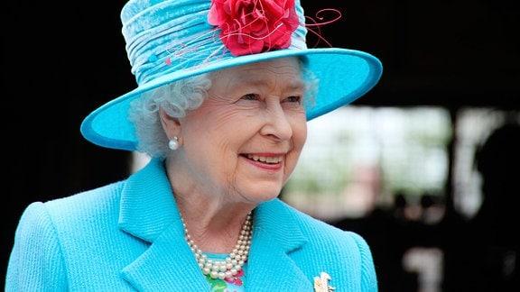 Queen Elizabeth II. bei einem Away Day in Cloughton 2010.