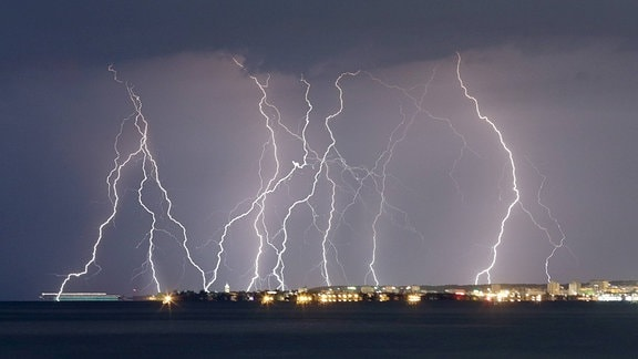 Gewitter über kroatischem Zadar