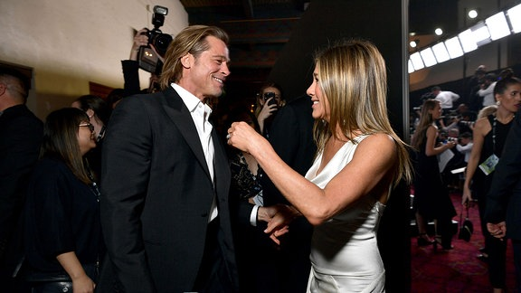 Brad Pitt and Jennifer Aniston bei den Actors Guild Awards in Los Angeles.