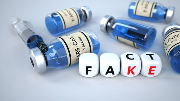 Fake News - Corona-Impfung, Spritze
