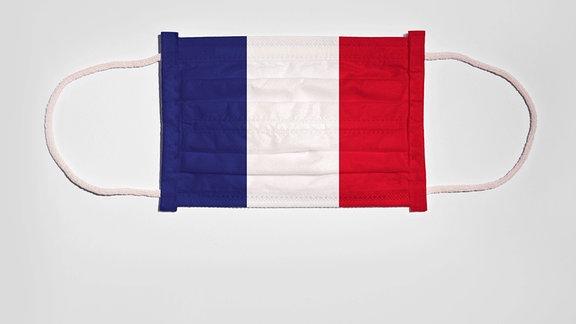 Atemschutzmaske mit Flagge von Frankreich