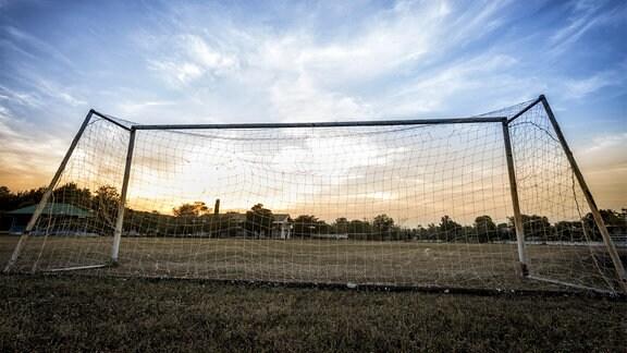 Altes Fußball-Tor