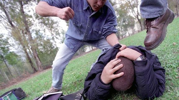 Prügelei zwischen Jugendlichen.