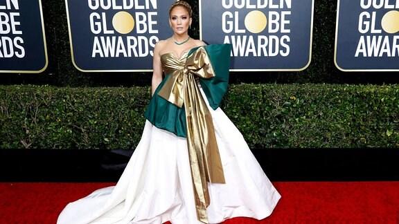 Jennifer Lopez bei der Verleihung der 77. Golden Globe Awards im Beverly Hilton Hotel.