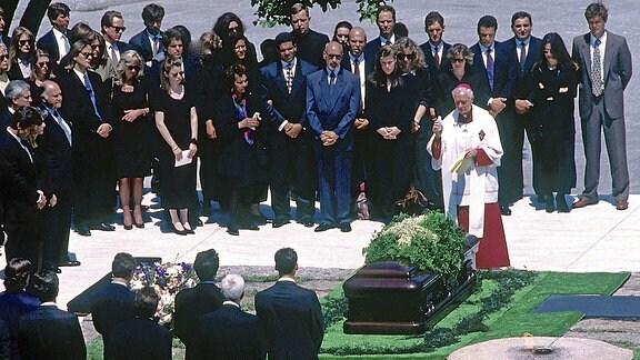 eine Beerdigung