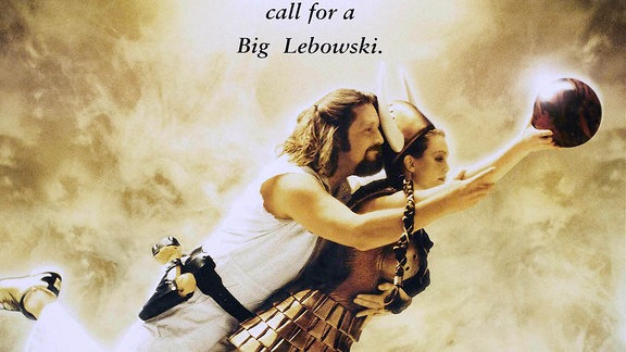 Filmplakat von 'The Big Lebowski' mit Jeff Bridges & Julianne Moore