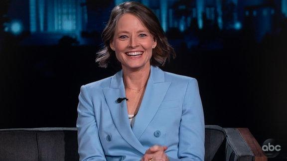 Jodie Foster in der Sendung Jimmy Kimmel Live