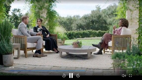Screenshot - Meghan & Harry im Interview mit Oprah Winfrey