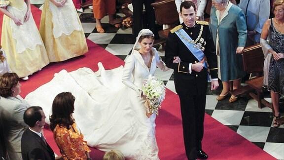 Hochzeit von Prinz Felipe von Spanien und Letizia Ortiz Rocasolano in der Almudena-Kathedrale