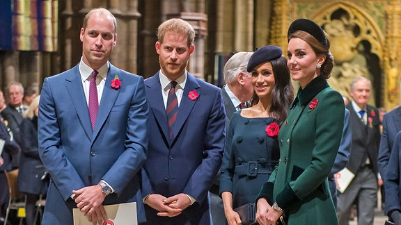 William, Harry, Meghan und Kate