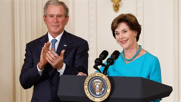 George W. Bush und Laura Bush