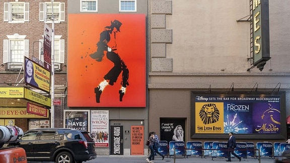 Plakat vom Michael Jackson Musical