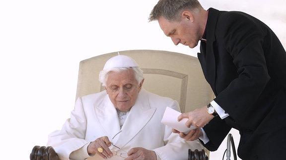 Papst Bendedikt und Georg Gänswein