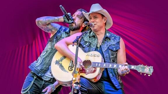 Alec Völkel und Sascha Vollmer von der der Band The BossHoss