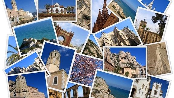Eine Wand voll mit verschiedenen Postkarten.