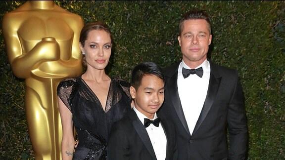 Angelina Jolie, Brad Pitt und Sohn Maddox