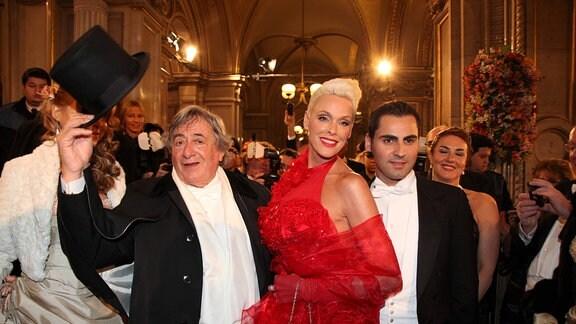 Richard Lugner und Brigitte Nielsen