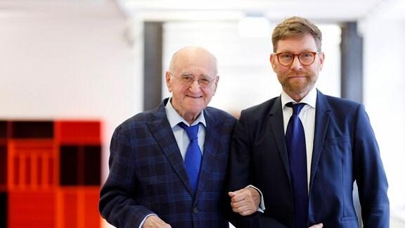 Alfred Biolek mit seinem Adoptivsohn Scott Biolek-Ritchie