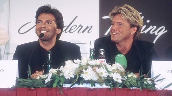 Modern Talking Thomas Anders (li.) mit Dieter Bohlen 03/98