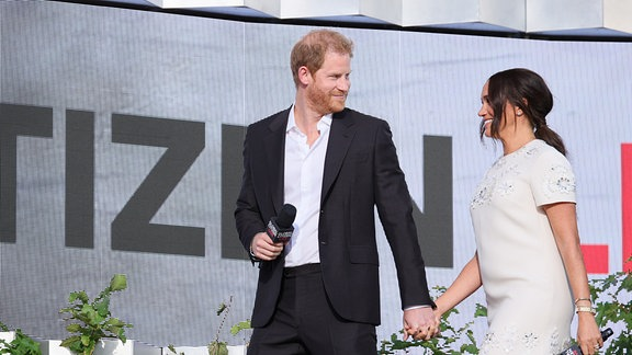 Prince Harry, Duke of Sussex and Meghan beim Global Citizen Live
