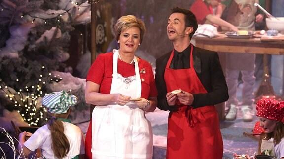 Gloria von Thurn und Taxis und Florian Silbereisen in der ARD TV-Show Das Adventsfest der 100.000 Lichter