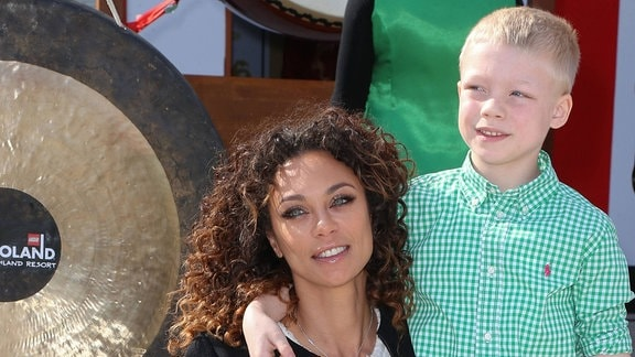 Lilly Becker mit Sohn Amadeus