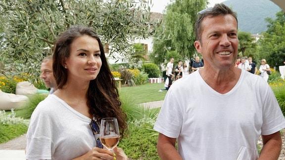 Lothar Matthäus und seine Freundin Anastasia Klimko