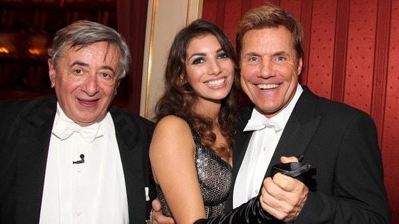 Richard Lugner, Dieter Bohlen, Fatma Carina Walz, 2010