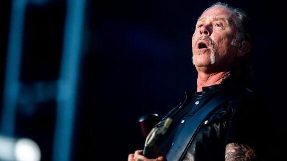 Metallicas James Hetfield auf der Bühne.