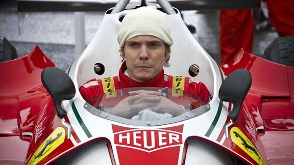 Filmszene - Daniel Brühl als Niki Lauda.