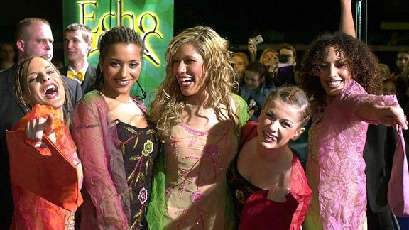 Die deutsche Girlgroup No Angels, 2002bei der Echo-Verleihung in Berlin