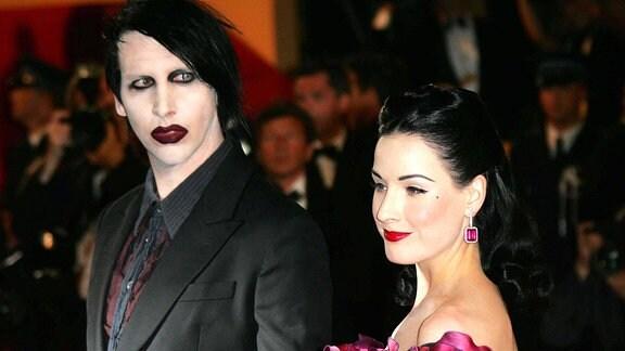 Marilyn Manson mit Dita von Teese