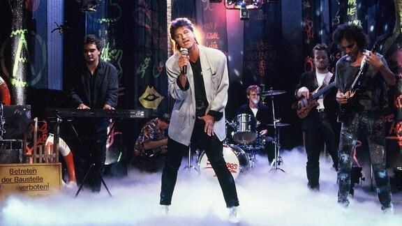 Die Gruppe PUR bei einem Auftritt im Jahre 1988