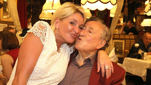 Richard Lugner mit Freundin Zebra