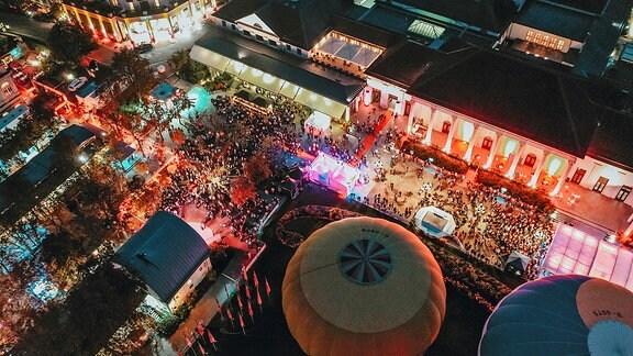 Das Festivalgelände von oben