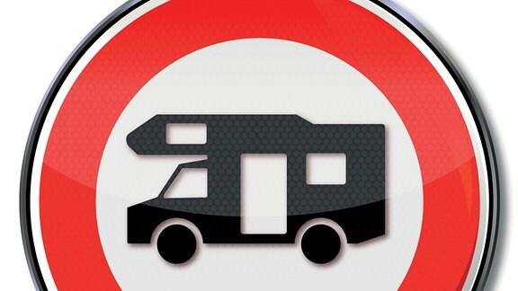 Straßenschild - Wohnmobile verboten