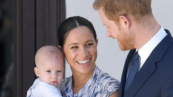 Prinz Harry mit Meghan und Archie