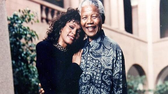 Whitney Houston und Nelson Mandela