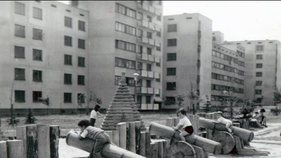 Plattenbauten in Bulgarien