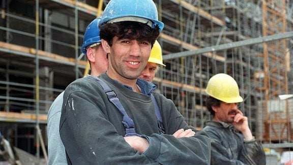 Ausländische Bauarbeiter.